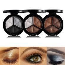 Hot Sale Makeup 1 Set Shimmer Eyeshadow Palette 3 Colors Smoky Cosmetics Professional Natural Matte Eye Shadow Sleek Glitter