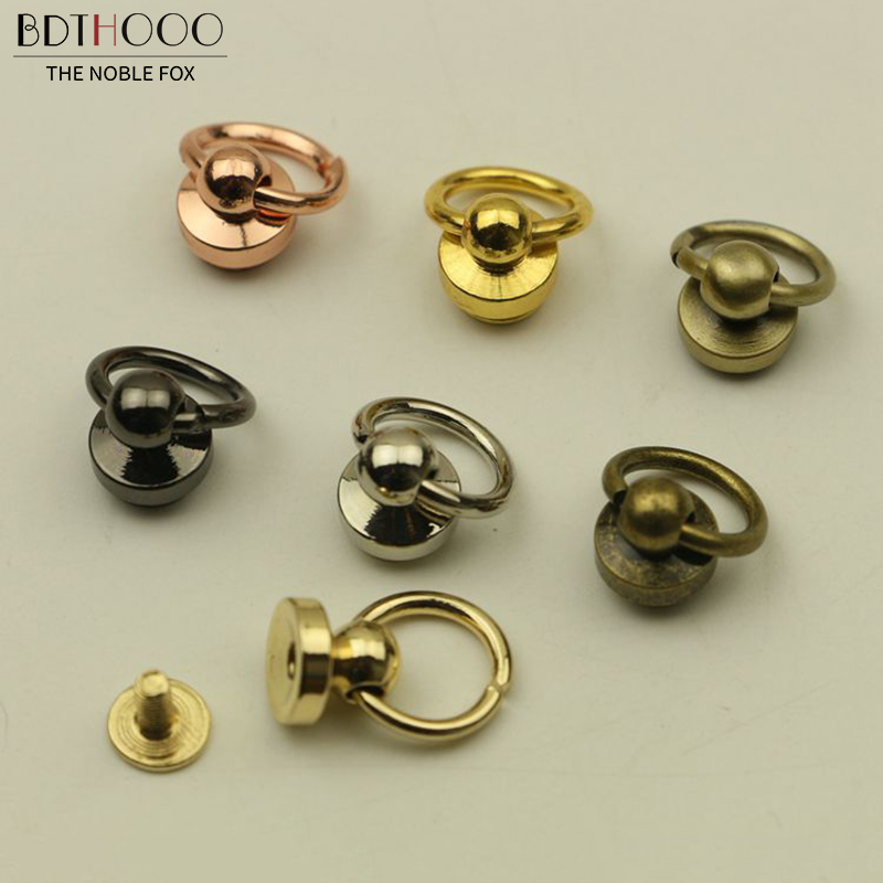 10pcs/pack Bags Rivet Nail Buckle Metal Swivel Screw Studs Button Handbag Chain Accessories For Bag Strap Hardware