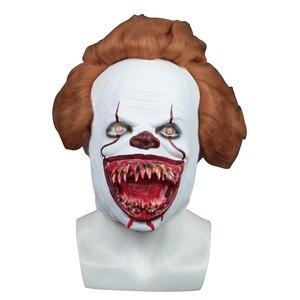 Image 5 - 2019 ใหม่ Pennywise หน้ากาก Led Latex Stephen King It 2 Joker หน้ากากหมวกกันน็อกฮาโลวีน Party Dressed น่ากลัวอุปกรณ์เสริม Prop 3 ประเภท