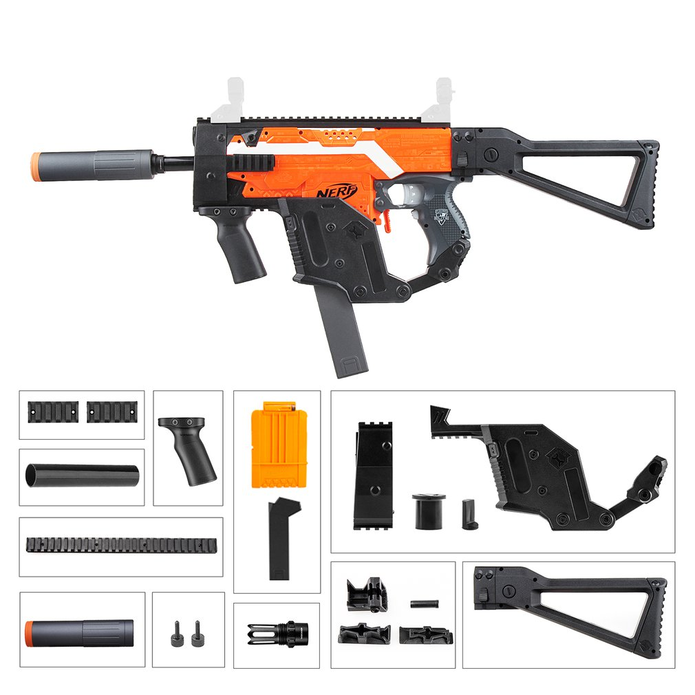 Kit de Mod vectoriel KRISS Style F STF-W004-6 ouvrier pour Nerf n-strike Elite Stryfe Blaster