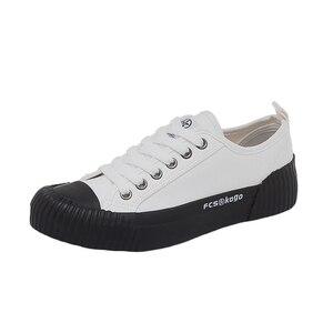 Image 5 - Chaussures de mode femmes toile femmes vulcaniser chaussures nouveau plat tendance mode confortable déodorant baskets chaussures femmes baskets