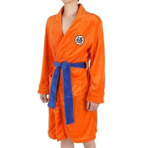 Bola de dragão cosplay roupas pijamas sun wukong roupão europeu tamanho alta qualidade wukong roupão