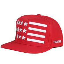 America Embroidery Red Hats Five-pointed Star and Stripe Lovers Hat Tide Male Baseball Hip Hop Cap Woman Sunshade Snapback Hat fashion five pointed star shape embroidery camouflage pattern baseball cap for men