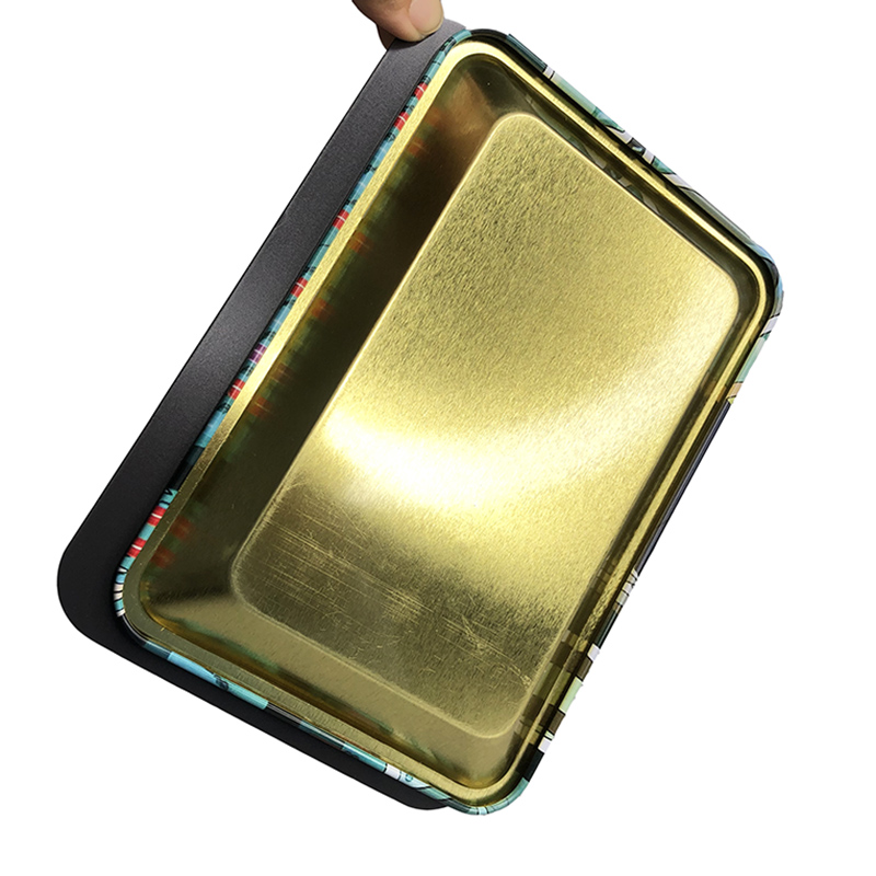 18x12.5cm Rolling Tray Leak Proof Magnetic Lid Herbal Tobacco Storage Cover Hand Cigarette Paper Plate Smoking Pipe Accessories 2