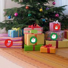 500 шт/лот Рождественские Праздничные наклейки украшения для