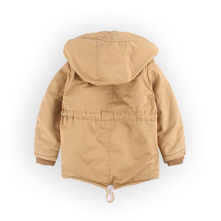 Benemaker Children Winter Outdoor Fleece Jackets For Boys Clothing Hooded Warm Outerwear Windbreaker Baby Kids Thin Coats YJ023 8