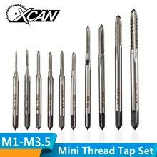 XCAN 10 шт. M1 M1.2 M1.4 M1.6 M1.7 M1.8 M2 M2.5 M3 M3.5 метрический кран с винтовой резьбой прямые человеческие волосы для наращивания, Набор Флейта машина зажигания Нажмите набор сверл