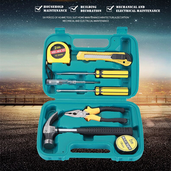 Multifunction Tools Set 8 pieces hand tools Set Home Hardware Tools Kit Auto repair Toolbox Woodworking Electrician Toolbox Set терморегулятор set 8