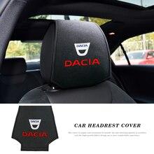 1/2 pces auto assento de carro pescoço travesseiro proteção segurança encosto de cabeça para dacia duster logan sandero stepway lodgy mcv 2 dokker