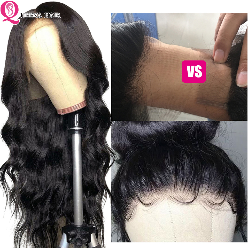 Transparent Lace Wig Brazilian Body Wave Wig Remy Glueless Lace Front Human Hair Wigs Pre Plucked With Baby Hair Bleached Knots