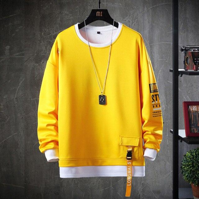 HIP HOP 2020 couleur unie sweat-shirt vestes à capuche pour homme printemps automne à capuche décontracté Janpanese Streetwear vêtements