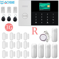 YAOSE 3G WIFI Gsm alarm safety system With PIR Motion Sensor alexa compatible smart home security alarm Ios Andriod Apps Control