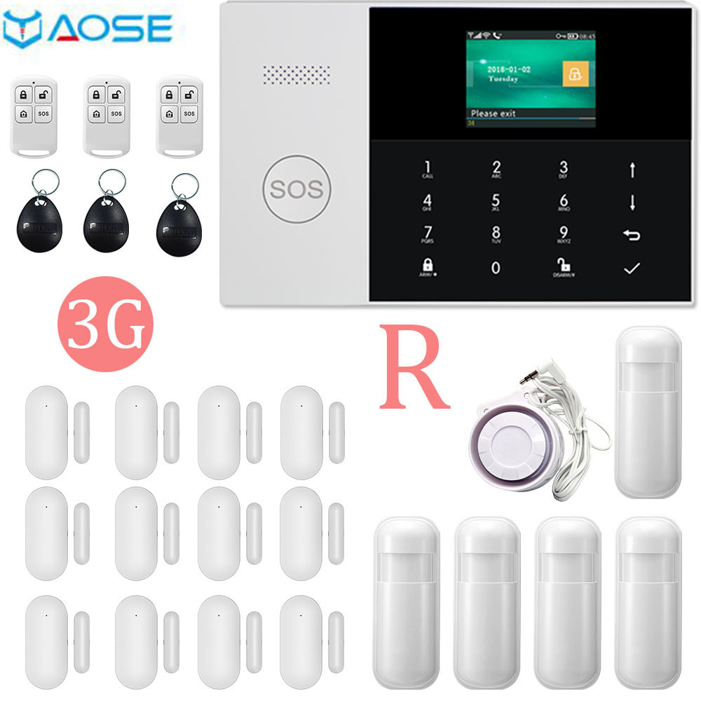 YAOSE 3G WIFI Wired &Wireless Smart home burglar alarm host compatiable with alexa RF Socket /Relay Ios Andriod Remote control image