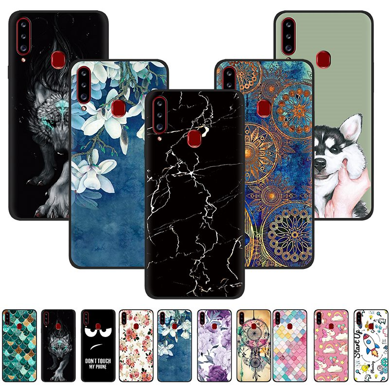 Anti-Knock Back Phone Cover For Samsung A20S Colorful Phone Cover Painted TPU Silicone Back Fashionable Cover Design