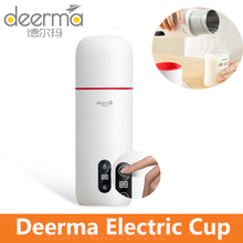 Deerma Electric Water Kettle Thermos Cup 350ml Temperature Display Smart Touch Control Portable Mijia Stew Cup