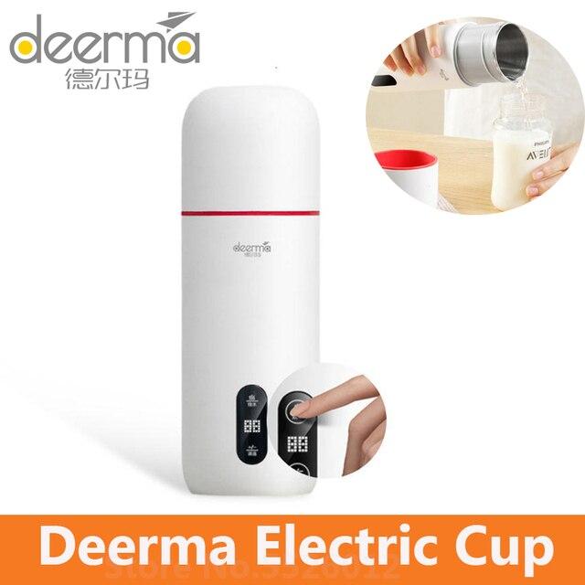 Deerma Elektrische Waterkoker Thermos Beker 350Ml Temperatuur Display Smart Touch Control Draagbare Mijia Stoofpot Beker