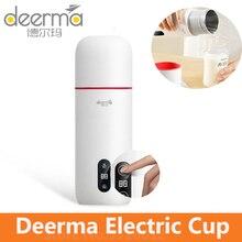 Deerma chaleira térmica copo de água elétrica 350ml display temperatura inteligente controle toque portátil mijia guisado copo