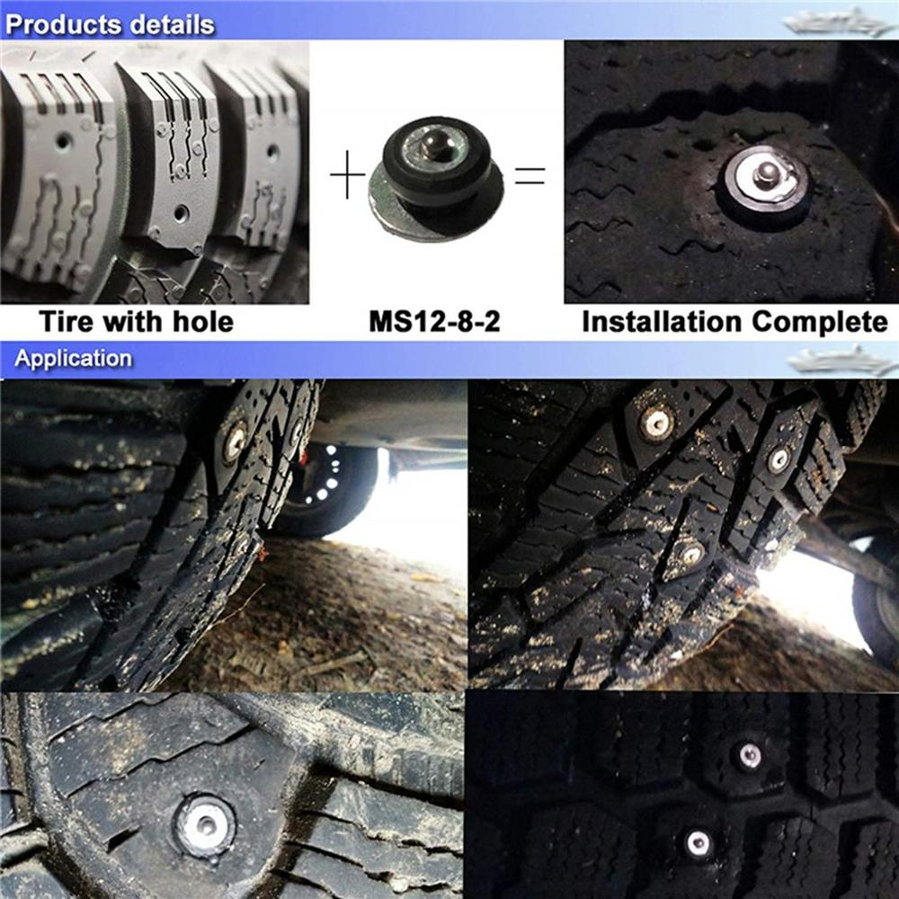 100PCS ATV Tires Studs For Holes Tire Screw Snow Spikes Wheel Tyre Chain Studs