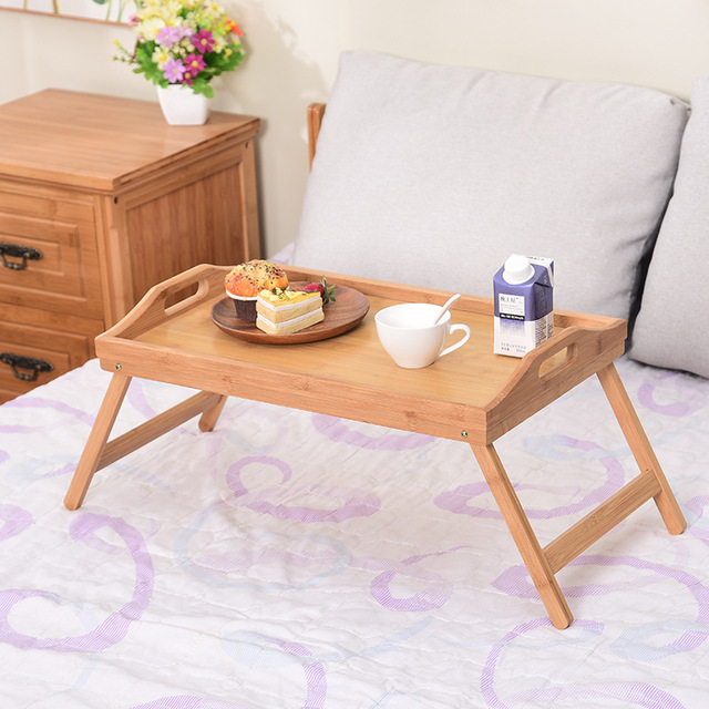 Wooden Portable Foldable Computer Laptop Desk Adjustable Notebook Desk Table Bed Sofa Breakfast Tray Picnic Table Studying Table 4
