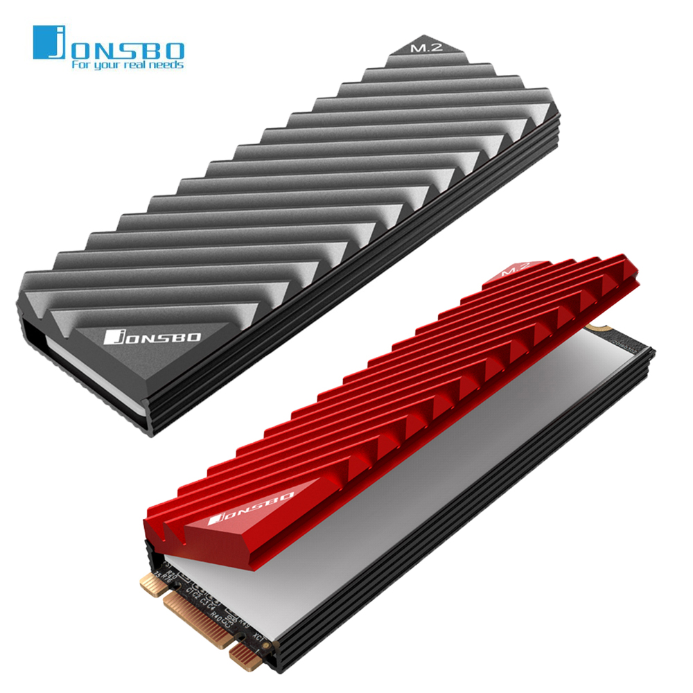Jonsbo M.2 2280 SSD Solid Hard Disk Aluminum Alloy Heat Dissipation Fin Heat Sink Cooling W/ Thermal Pad For Desktop Computer PC