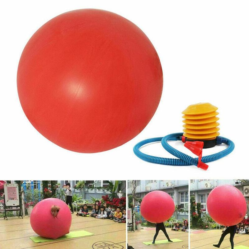 72 Inch Latex Bounce Giant Balloon Inflatable Ball Toy Human Egg Balloon Toy Round Climb-in Balloon For Children Funny Game