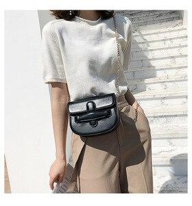Image 4 - JIULIN 2019 新しい潮クロスベルト夏チェーンシングルショルダーバッグファッション傾斜小さな正方形のバッグ