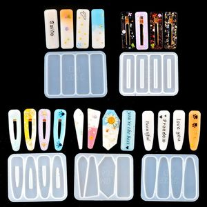 Заколка для волос силиконовая эпоксидная смола, форма заколка для волос ювелирные изделия Литье инструменты