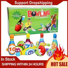 Play-Set Bowling-Games Kids for Children Educational-Toy Colorful-Pattern Small Sports