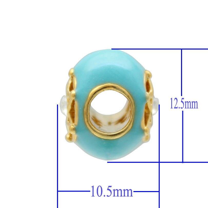 Free shipping Blue crystal Blue Birthstone Star Of David On Islamic Hamsa Charm Bead fit Pandora bracelet