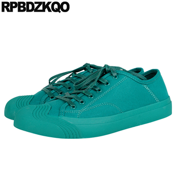 chinese breathable spring autumn lace up women trainers flats green sneakers black footwear plain canvas shoes 2019 designer