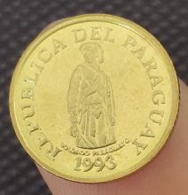 Guarani Paraguay 14.5 1993mm | Pièces de monnaie comorative et authentique, Collection originale 100% mm(China)
