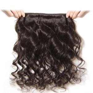 Image 5 - Lanqi Peruvian Brazilian hair weave bundles loose wave bundles deals human hair 4 bundles non remy wholesale hair bundles