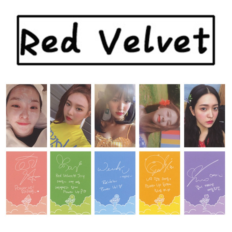 Youpop KPOP Red Velvet Photo Card The Red Summer Album K-POP Self Made Paper Cards Autograph Photocard