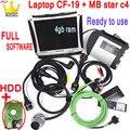Mb Star C4 Диагностика автомобиля Авто SD Connect C4 WI-FI программного обеспечения мультиплексор с ноутбуком CF-19 toughbook PC инструмент для диагностическо...