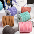 5yards/lot 3 mm Flat Faux Suede Braided Cord Korean Velvet Leather Handmade Thread String Rope For DIY Jewelry Making Supplies