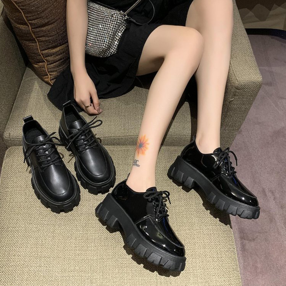 Pattini Della Piattaforma delle donne Scarpe Lolita Scarpe di Cuoio di Autunno della Molla Delle Ragazze Delle Signore Mary scarpe Donna Giapponese di Alta Scarpe Tacchi 2020