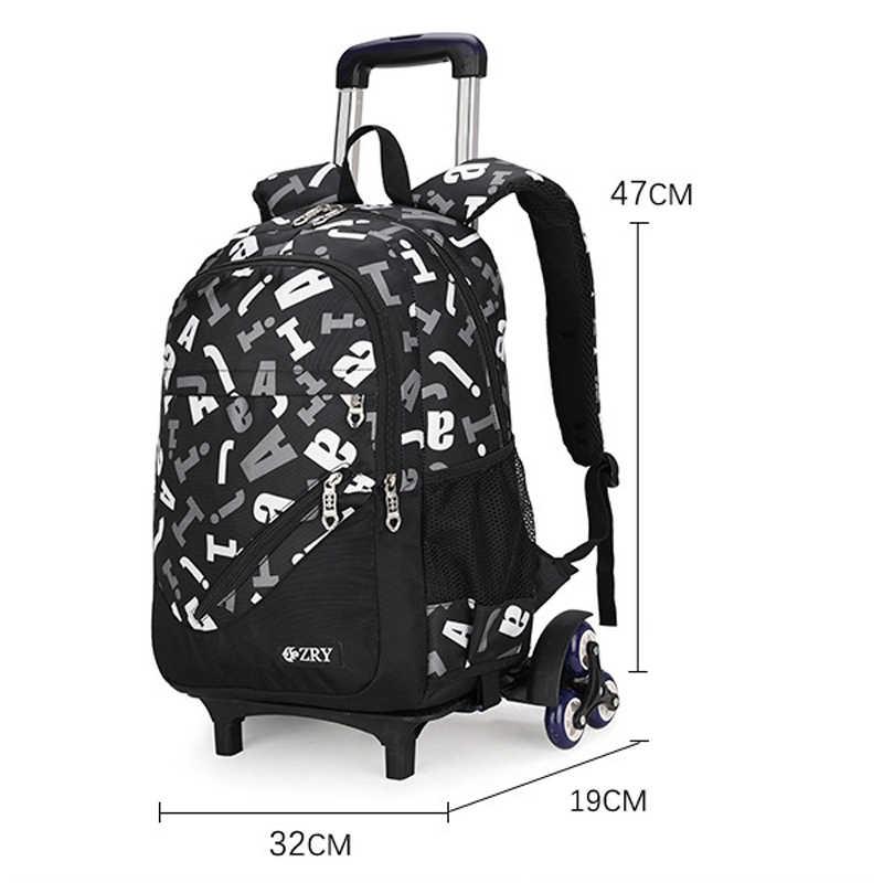 Рюкзак ZIRANYU, для детей, для мальчиков и девочек, на колесиках, для чемоданов и книг