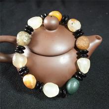 Natural Alashan Agate Gobi Stone  Bracelet raw stone rough
