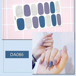 Image 2 - 2019 Korea Designed Full Wraps Shiny Nail Art Sticker Decals Multicolor Nail Stickers Strips DIY Salon Manicure Drop Ship