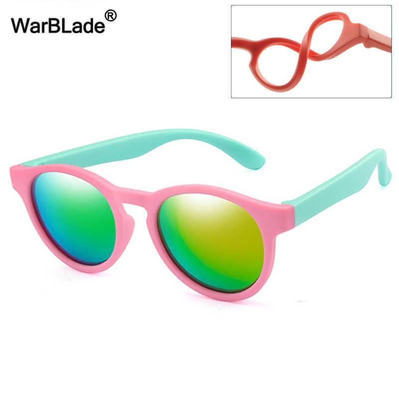WBL ילדים מקוטב משקפי שמש עגול בציר שמש לילדים בני בנות סיליקון בטיחות משקפיים תינוק גווני Eyewear UV400