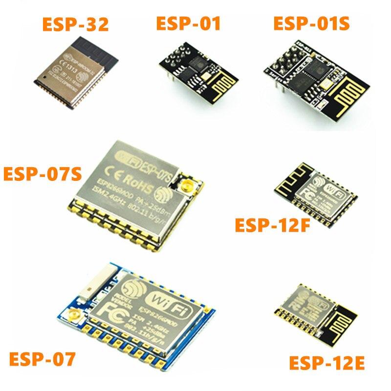 ESP8266 ESP-01 ESP-01S ESP-07 ESP-12E ESP-12F ESP-12S WI-FI série módulo sem fio transceptor sem fio