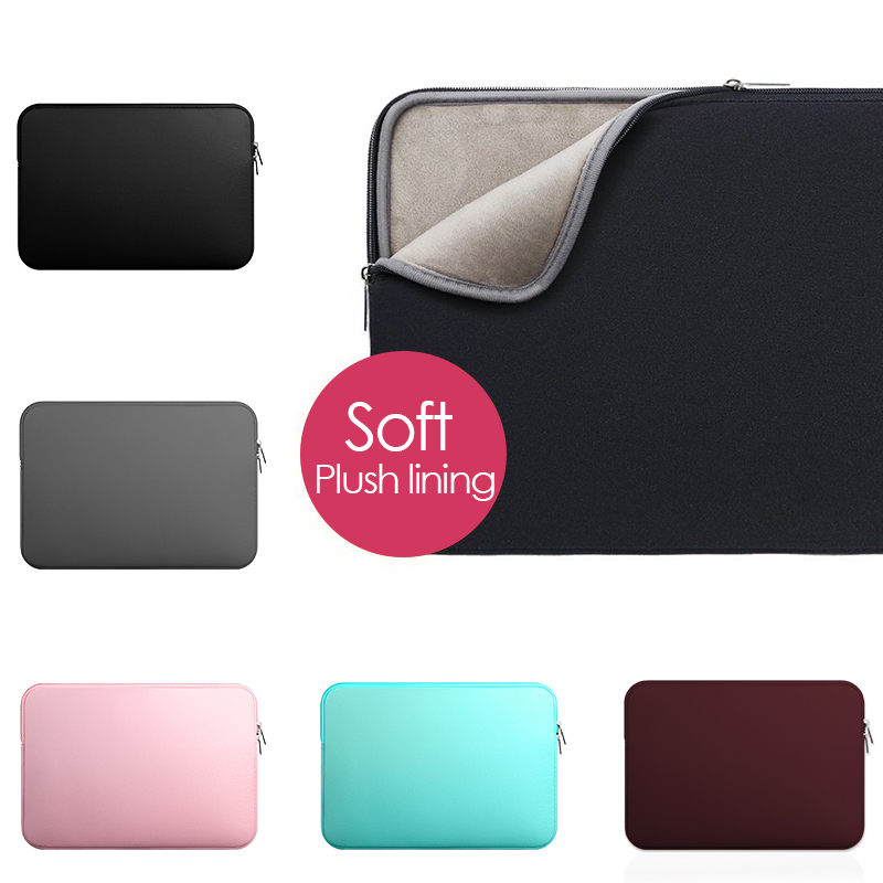 Yicana 11 12 13 14 15 15.6 Inch Laptop Sleeve Case For Macbook Air Pro Ultra-book Notebook Computer Soft Plush Lining Zipper Bag