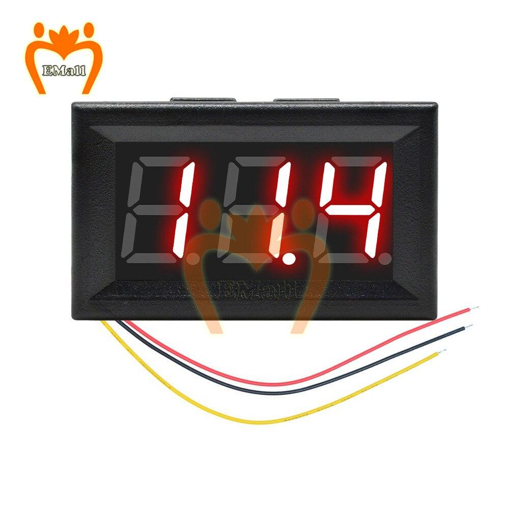 0-300V DC 4,5 V постоянного тока до 30V Мини цифровой вольтметр Напряжение Панель метр тестер красный/синий/зеленый для 6V 12V Вольтметр для электромо...