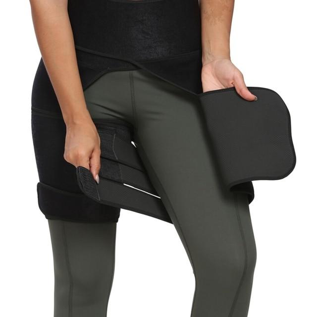 Waist Trainer Slimming Belt Slim Thigh Trimmer Leg Shapers Slender Sweat Shapewear Toned Thigh Slimmer Wrap lingerie корсет 3