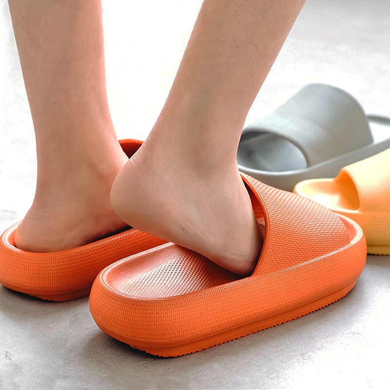 Women Slippers Slide Beach Slides High Heels Shower Soft Sole Men Ladies Shoes