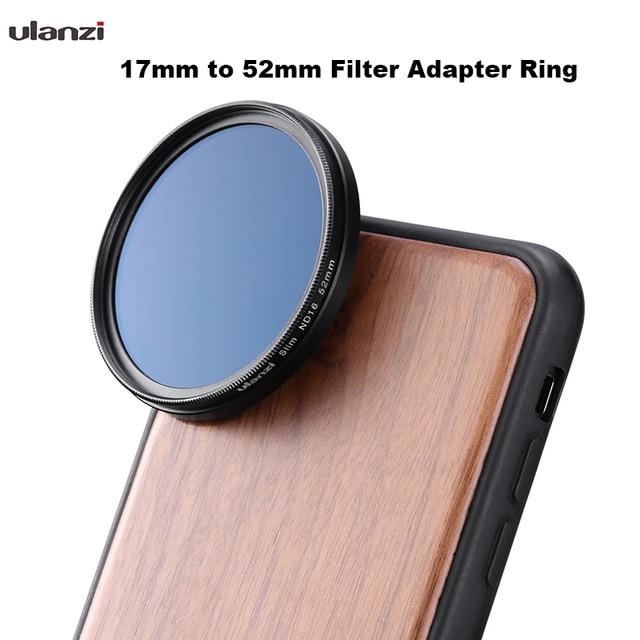 Кольцо адаптера фильтра Ulanzi от 17 мм до 52 мм Кольцо адаптера фильтра