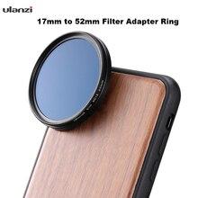 Ulanzi filtre adaptör halkası 17mm için 52mm filtre adaptör halkası
