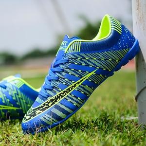 Image 1 - Unhas longas explosivas e sapatos de futebol quebrados, esportes macios e leves respirável sapatos de futebol da forma das crianças