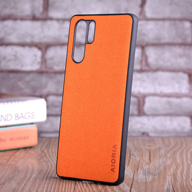 Étui pour Huawei P30 P30 Pro P30 Lite coque de luxe en cuir textile peau souple couverture de téléphone dur pour Huawei P30 Pro Lite étui