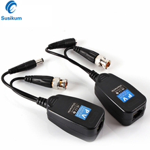 10Pairs Passive CCTV Coax BNC Power Video Balun Transceiver Connectors To RJ45 BNC Male For CCTV Video Camera